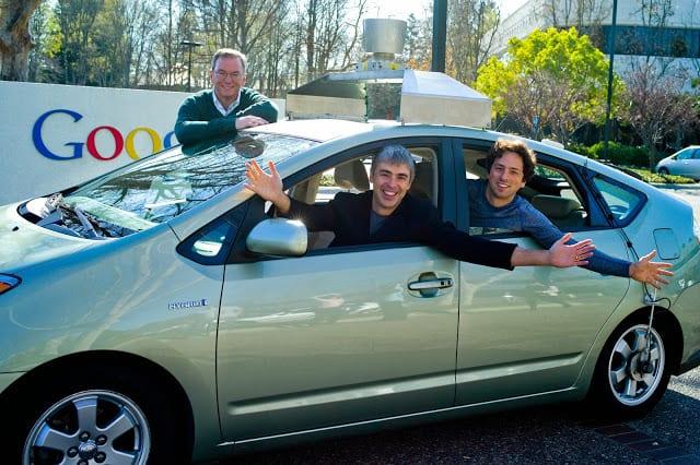 brin, schmidt and page in autonomic car