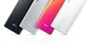 LG VELVET בארבעה צבעים
