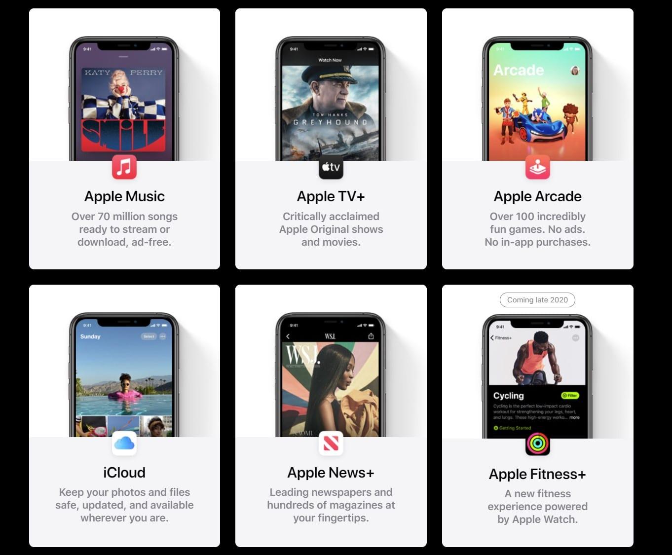 השירותים של Apple One