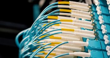 connected fc cables in modern data center