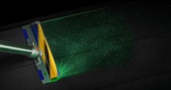 דייסון v15 מגלה אבק עם לייזר
