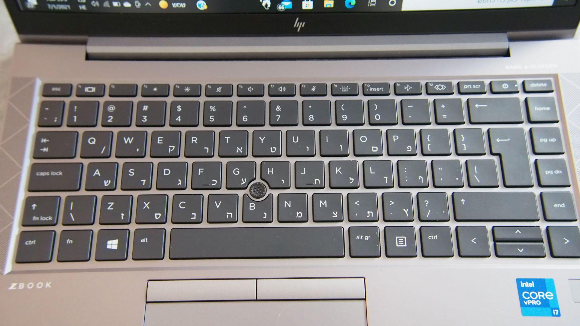 HP Zbook Firefly 14 Keyboard