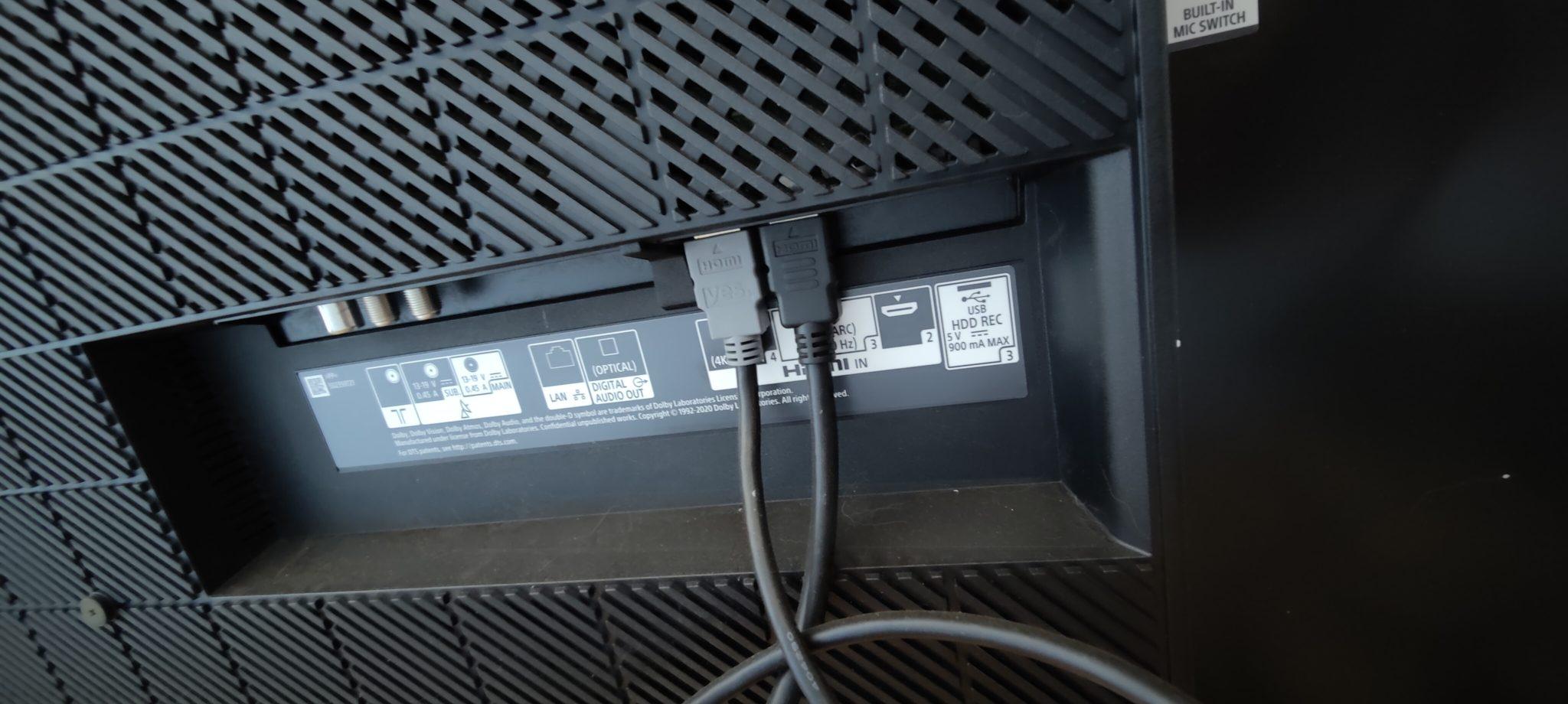 כניסות אחוריות ב-Sony Bravia XR-65A83J